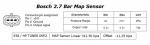 2.7 BAR MAP SENSOR BOSCH